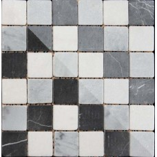 Buxton Marble Black/White Mosaic Sheet